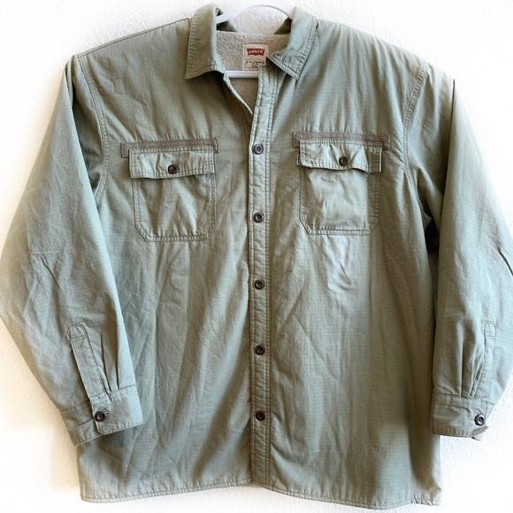 fc771e332ee Levi s Other - Levis Fleece Lined Jacket Mens Size XXL Button Up
